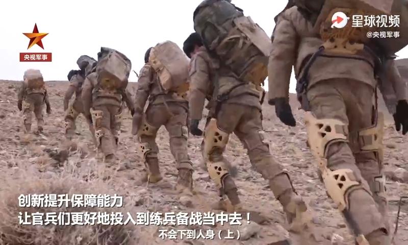 Китайских пограничников оснастили экзоскелетами