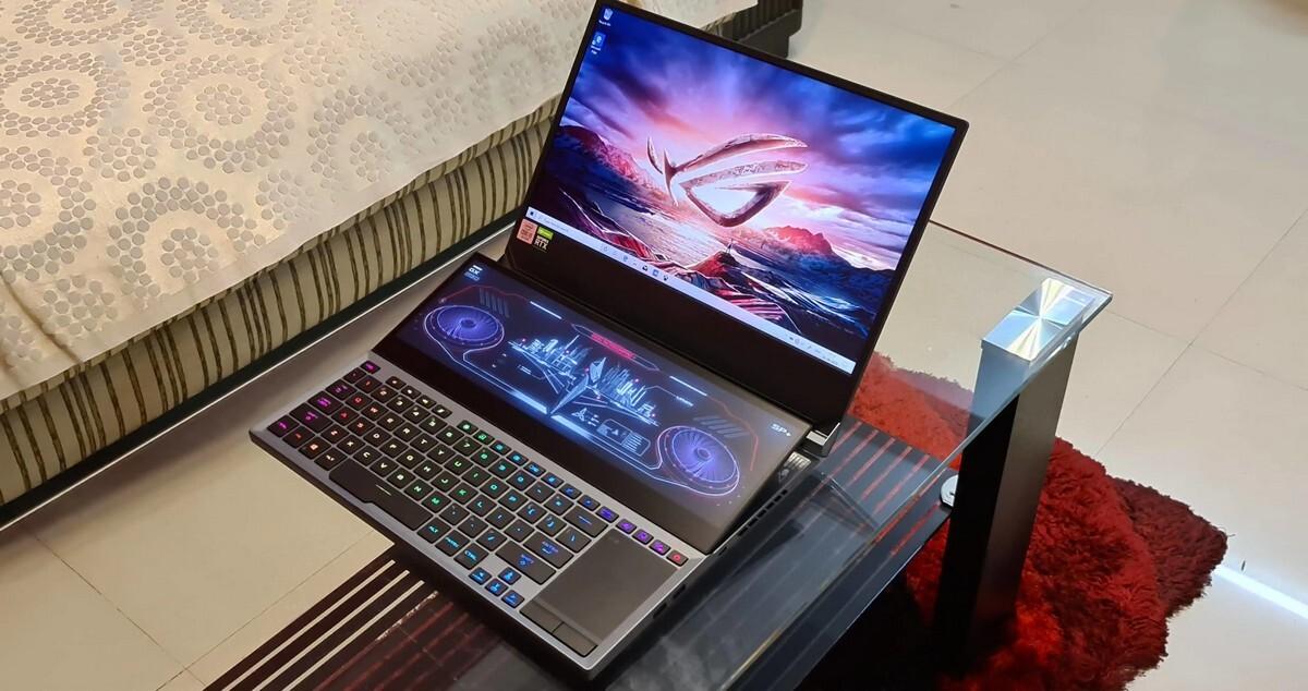 В сеть утекло 'живое' фото дорогого ноутбука Asus с двумя экранами
