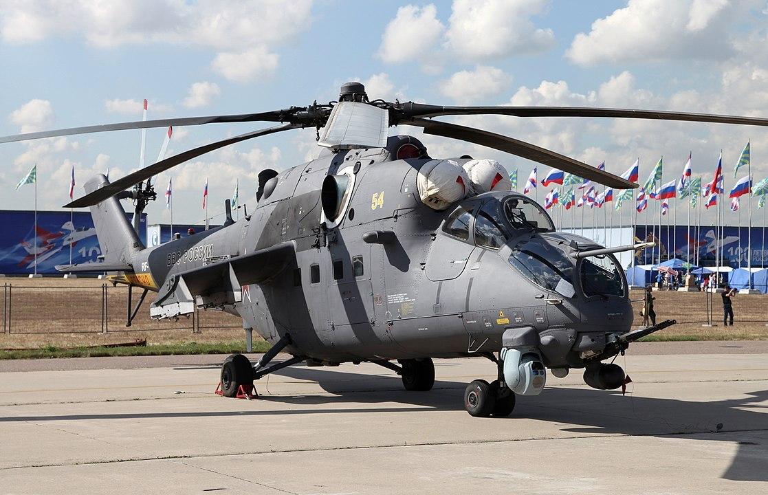 Уничтожение террористов вертолётом Ми-35М попало на видео