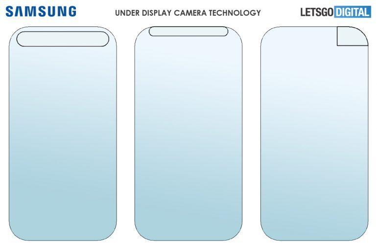 Samsung зарезервировала для своих смартфонов три варианта скрытой селфи-камеры
