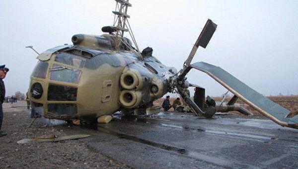 В России вертолёт Ми-8 столкнулся со зданием аэропорта