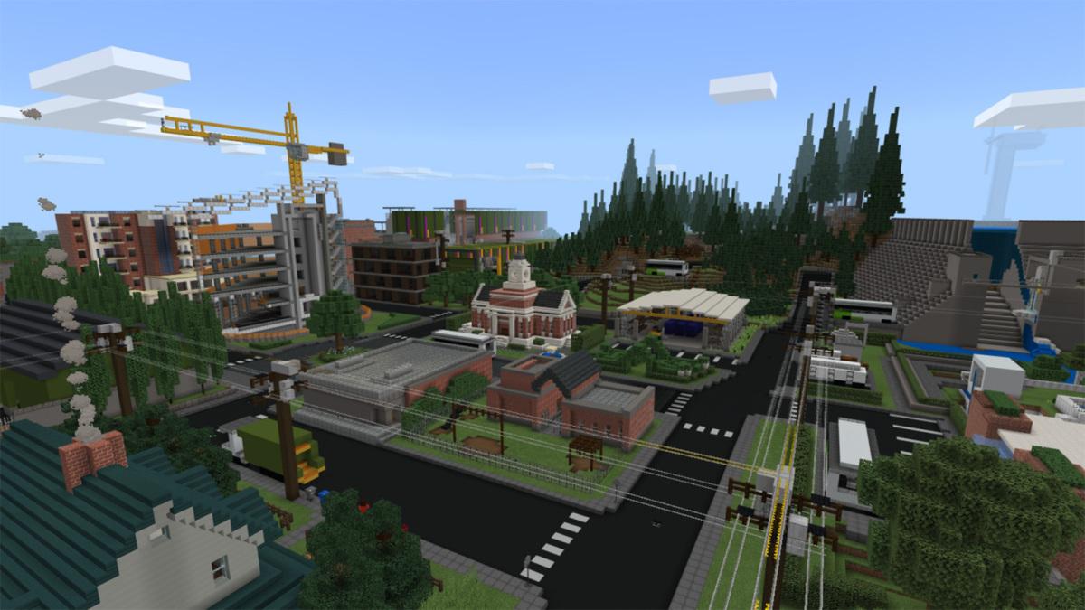 Microsoft построила идеальный экологически чистый город в игре Minecraft