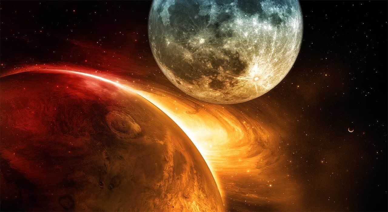 Россияне станут свидетелями сближения Луны и Марса