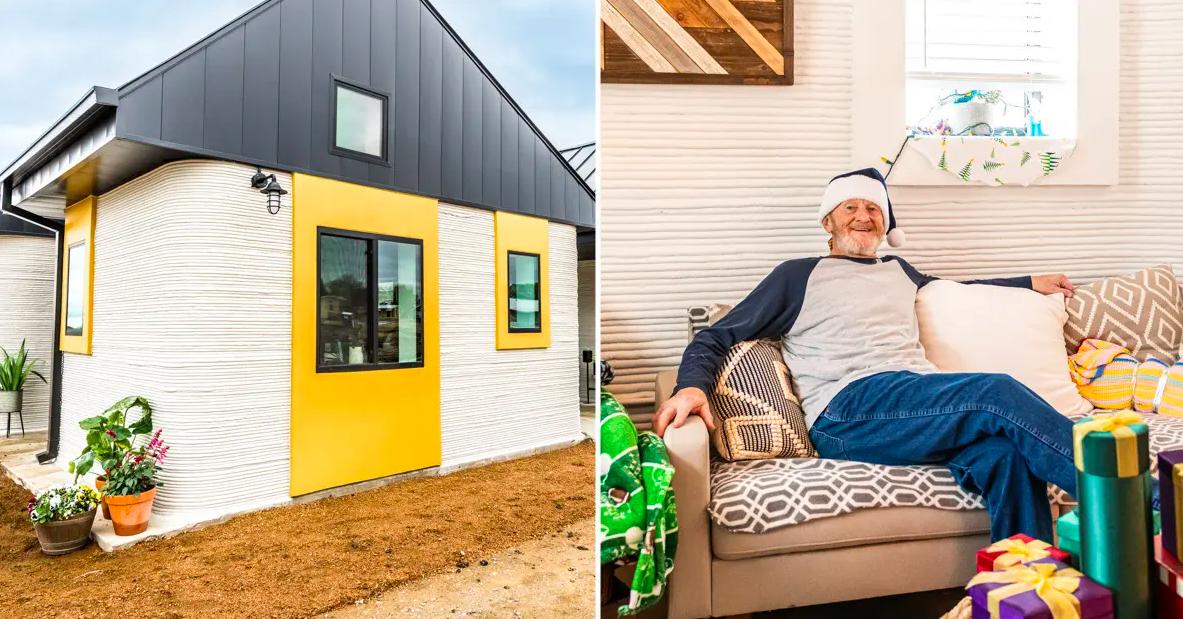 Американского бездомного переселили в напечатанный на 3D-принтере дом