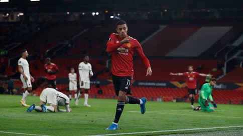 «Манчестер Юнайтед» победил по-теннисному // В первой встрече 1/2 финала Лиги Европы он разгромил «Рому»