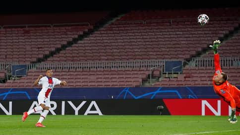 «Барселону» загасили хет-триком // В первом матче 1/8 финала Лиги чемпионов ПСЖ уничтожил испанского гранда