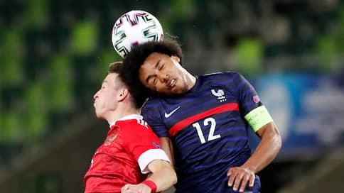 У сборной Франции прошло как по маслу // Российские футболисты проиграли фавориту молодежного чемпионата Европы