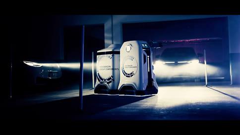 Volkswagen представил беспилотных роботов для зарядки электромобилей