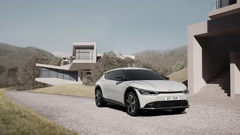 Kia раскрыла дизайн электромобиля EV6