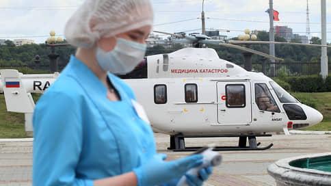 На вертолетах поставили красный крест // Санитарная авиация расширяет парк