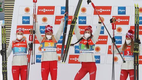 Российские лыжницы решили квартетный вопрос // Они завоевали серебро в эстафете