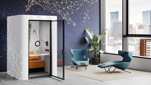 Кабина для видеовстреч // Российская мебельная компания Fresh. Ideas for Office представила акустическую кабину специально для Zoom-звонков