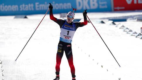 Норвежец Легрейд выиграл гонку преследования на этапе Кубка мира по биатлону