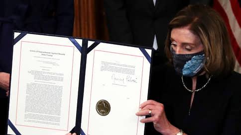Пелоси подписала объявление второго импичмента Трампу
