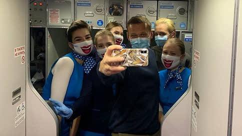 Навальный прилетел в Москву