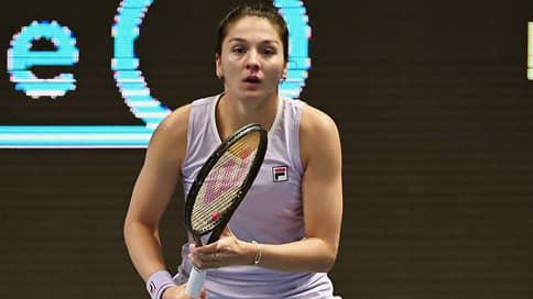 В финале теннисного турнира в Санкт-Петербурге сыграют Гаспарян и Касаткина