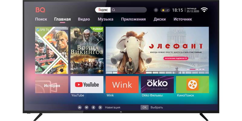 BQ представил 4К-телевизор с экраном 75 дюймов