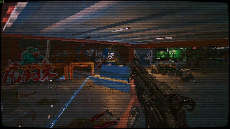 Cyberpunk 2077 сделали пиксельным — теперь он похож на Doom