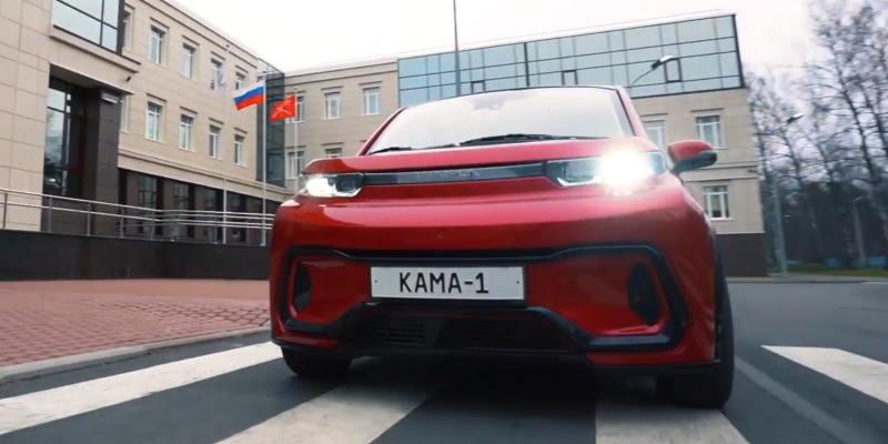 «КамАЗ» представил электромобиль за 1 млн рублей