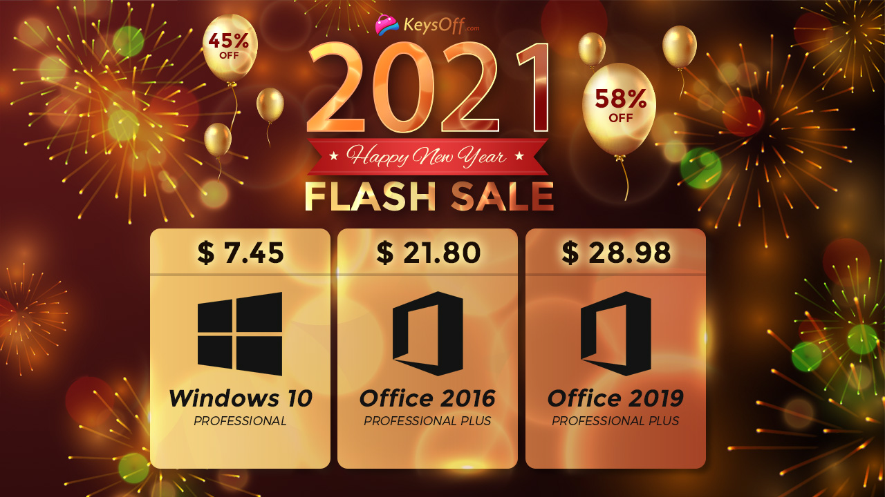 Начните новый год с распродажи: Windows 10 за $7,45 и Office от $21,80
