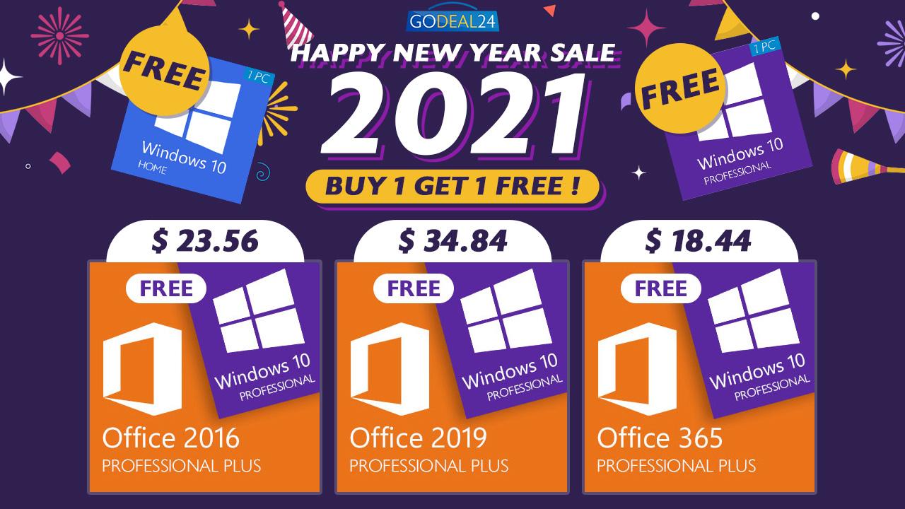 Лучшие новогодние распродажи: получите CD-ключ Windows 10 бесплатно