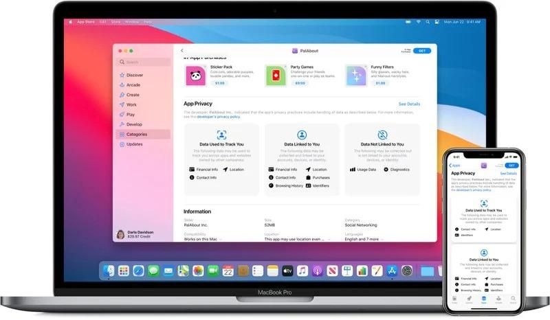 В iOS 14.3 появились ярлыки конфиденциальности для приложений в App Store. Как это работает