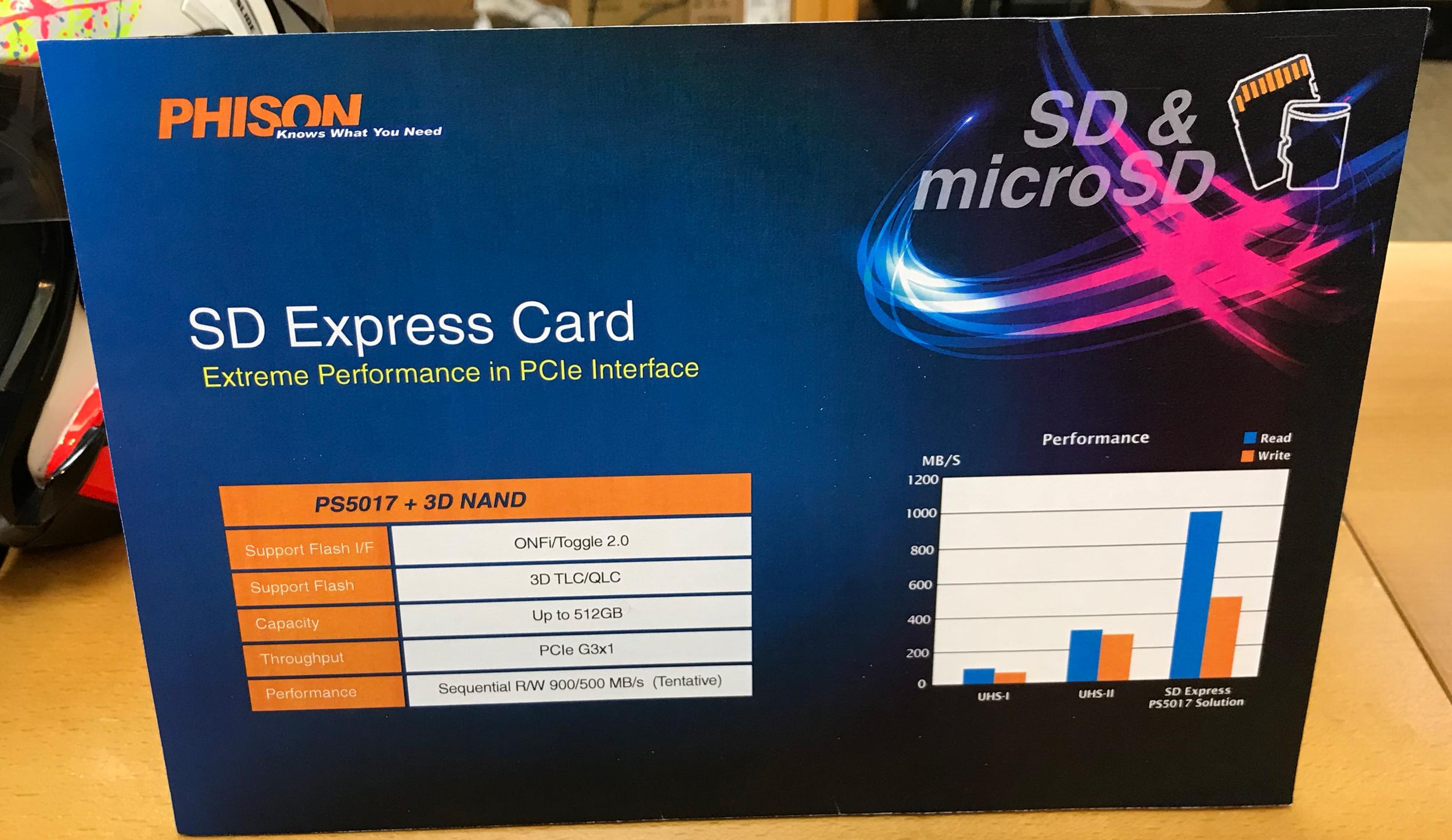 Запущено производство карт памяти SD Express. Они очень быстрые