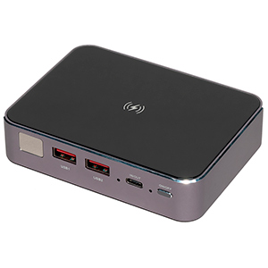 Внешний аккумулятор Prestigio Graphene PD Pro: 20 А·ч, поддержка QC и PD, беспроводная зарядка в компактном корпусе
