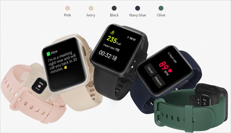 Экран 1,4 дюйма, датчик ЧСС, дыхательная гимнастика, 9 суток автономности и GPS. Представлены умные часы Xiaomi Mi Watch Lite