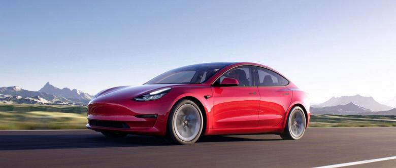 Программное обновление «повысило» запас хода электромобиля Tesla Model 3 2021