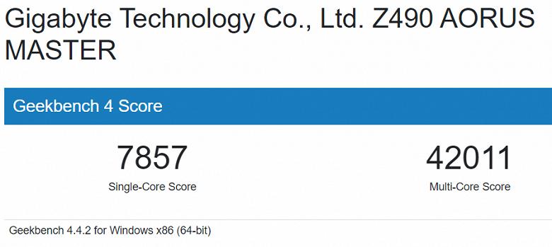 В базе Geekbench замечен процессор Intel Core i7-11700K Rocket Lake-S, работающий на частоте до 5,0 ГГц