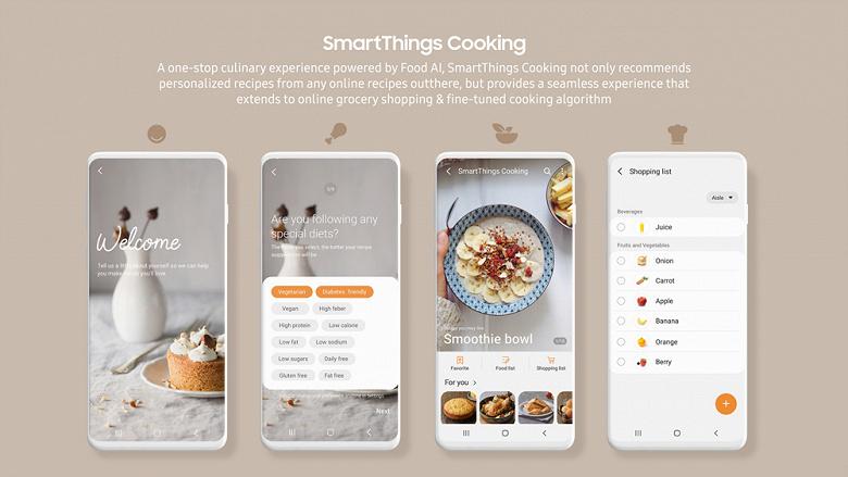 Смартфоны Samsung научились готовить. Запущен сервис SmartThings Cooking