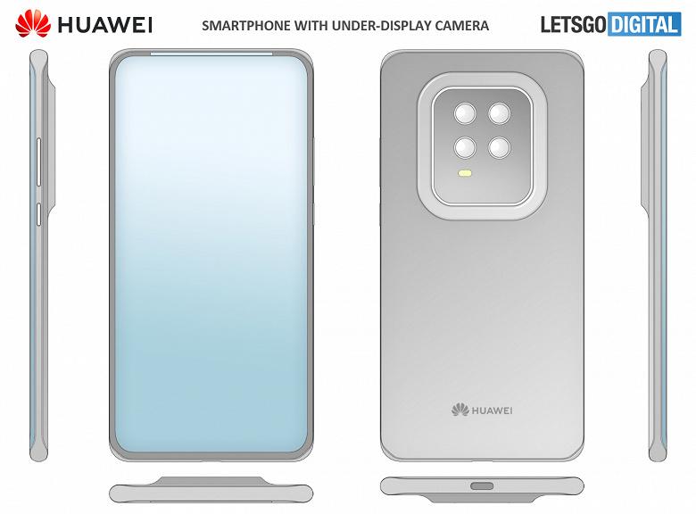 Скрытая фронтальная камера уже не интересно, Huawei пойдёт дальше. Системные значки переедут на рамки