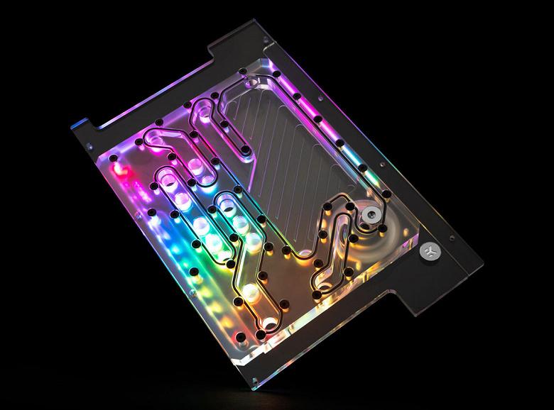 EK-Quantum Reflection PC-O11D Mini D5 PWM D-RGB — резервуар, распределительная пластина и помпа для ПК в корпусе Lian Li O11D Mini