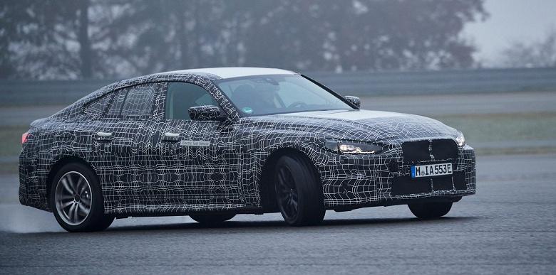 Видео дня: электрический седан BMW i4