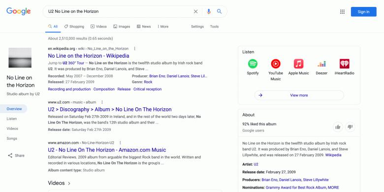 Google изменила дизайн поисковика на ПК. Пока что оценить его могут только меломаны