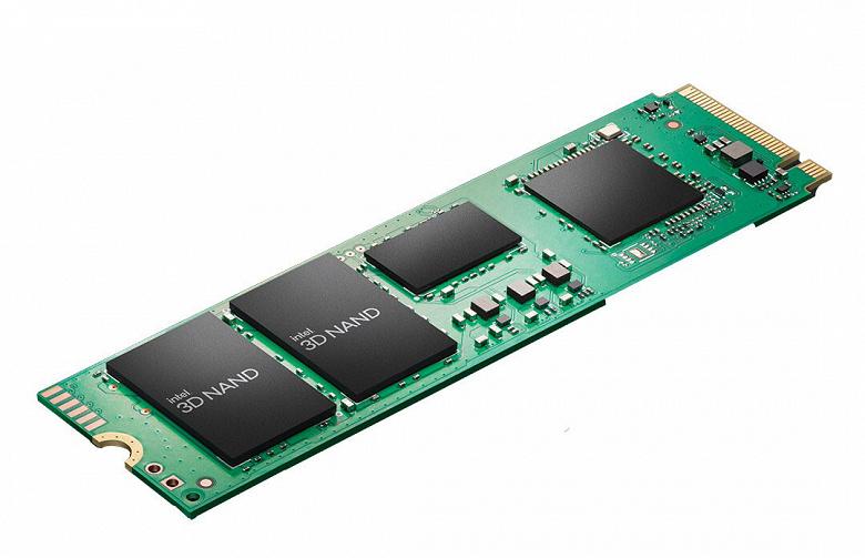 Линейка накопителей Intel SSD 670p включает модели объемом 512 ГБ, 1 ТБ и 2 ТБ