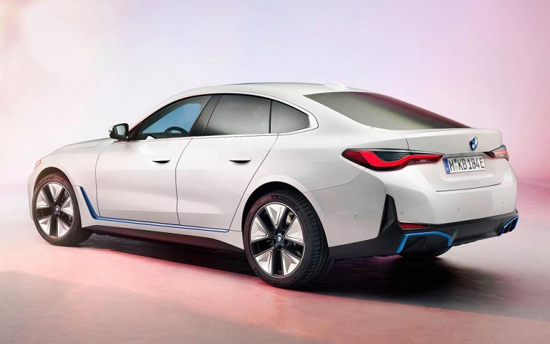 Представлен электромобиль BMW i4 с запасом хода 590 км