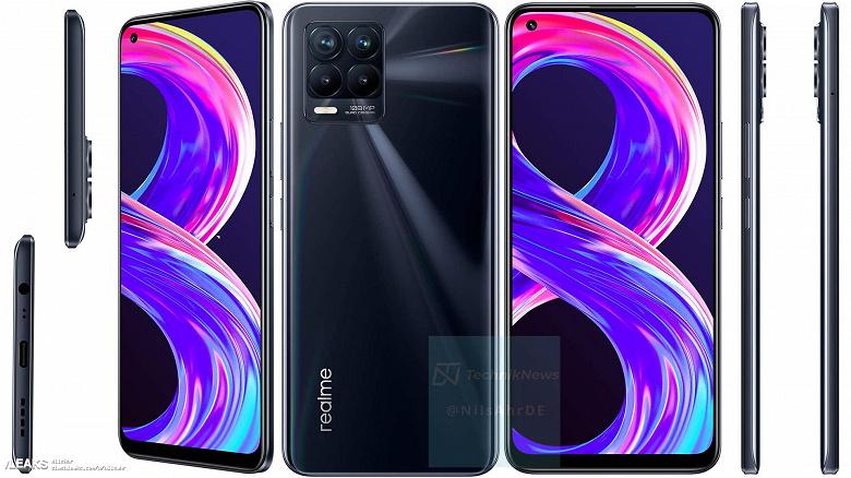Realme 8 Pro во всей красе перед сегодняшним анонсом. Официальные изобажения смартфона в разных цветах