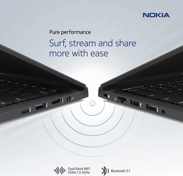 Алюминиево-магниевая новинка Nokia стоит не 1220, а всего 815 долларов. Ноутбук Nokia PureBook X14 представлен полноценно