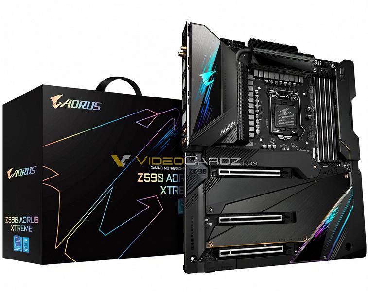 Появились подробные сведения о системной плате Gigabyte Z590 Aorus Xtreme для процессоров Rocket Lake-S