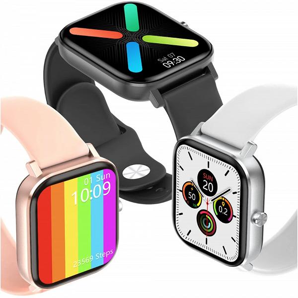 Копеечные умые часы с дизайном Apple Watch, функцией звонков, ЭКГ, SpO2, IP67 и управлением камерой/музыкой на смартфоне — это DT No. 1 DT36