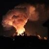 Всю ночь под Омском ликвидировали пожар в двухэтажном коттедже