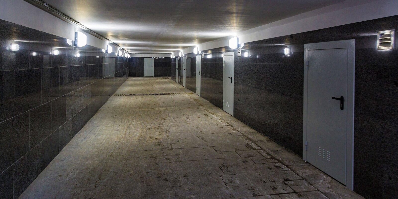 Завершился капремонт пешеходного тоннеля у Московского ипподрома