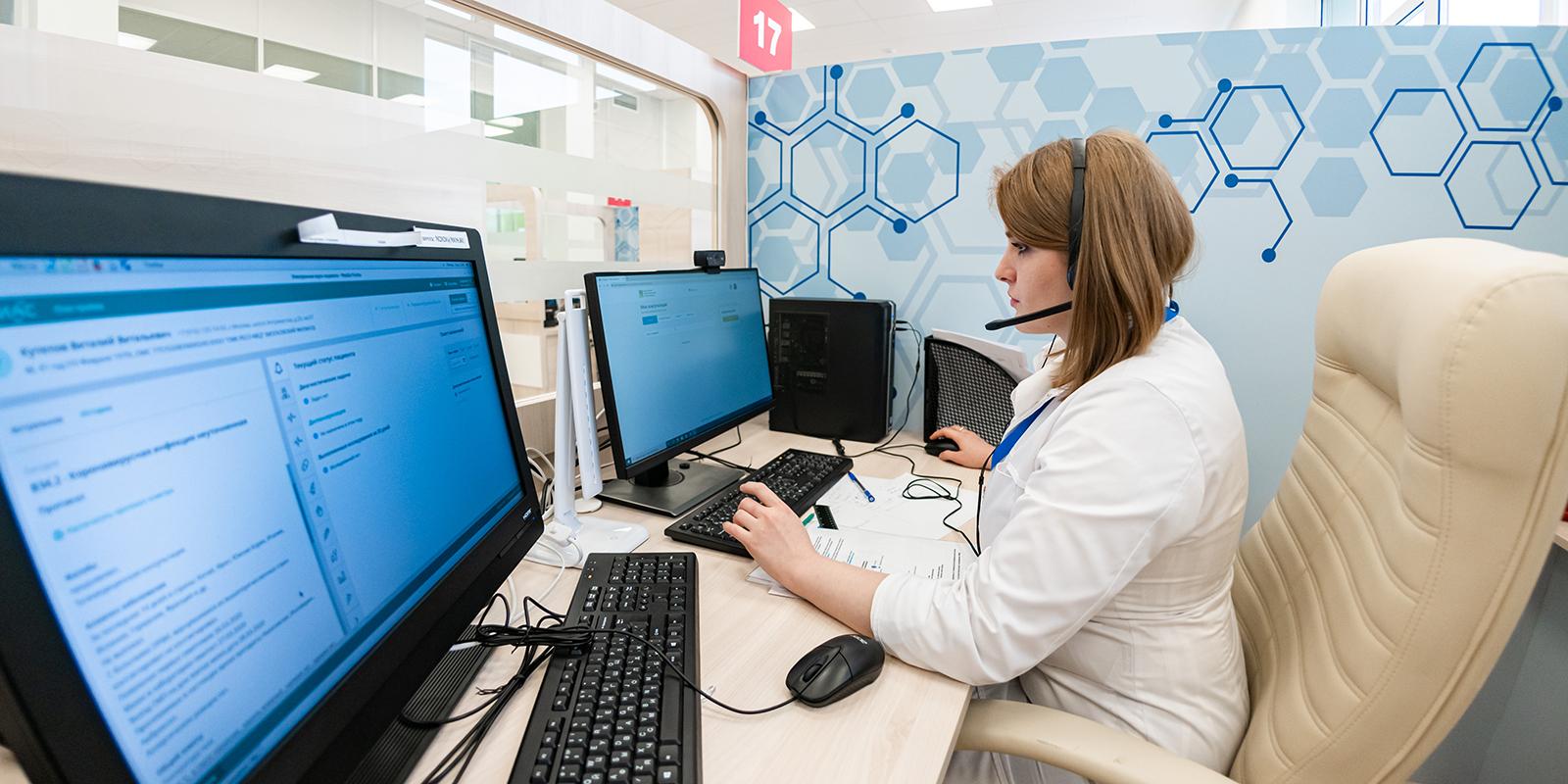 Московские врачи провели более миллиона телемедицинских консультаций для пациентов с коронавирусом