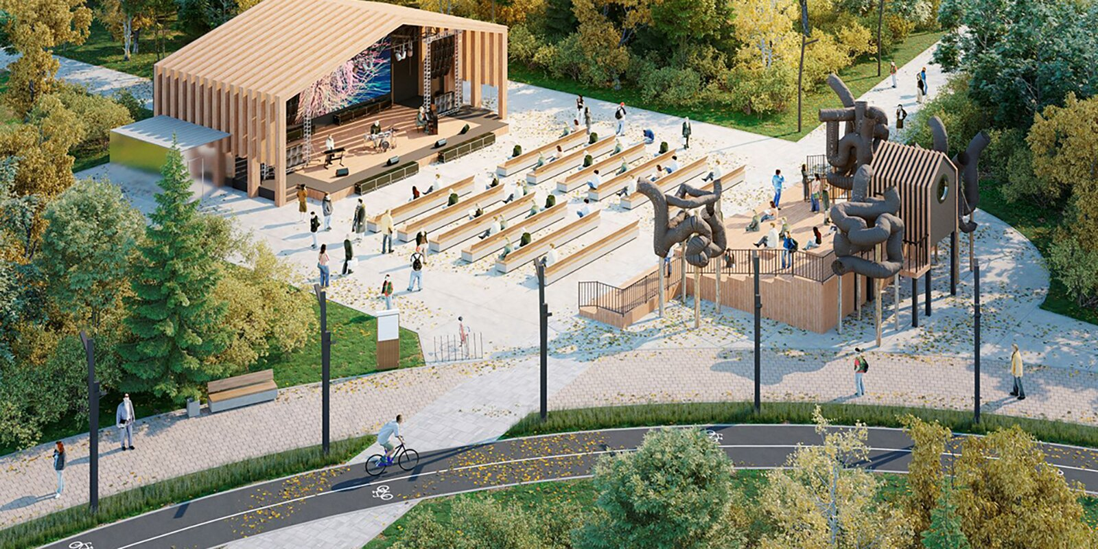 Экотропа и профессии будущего: что еще появится в парке «Яуза»