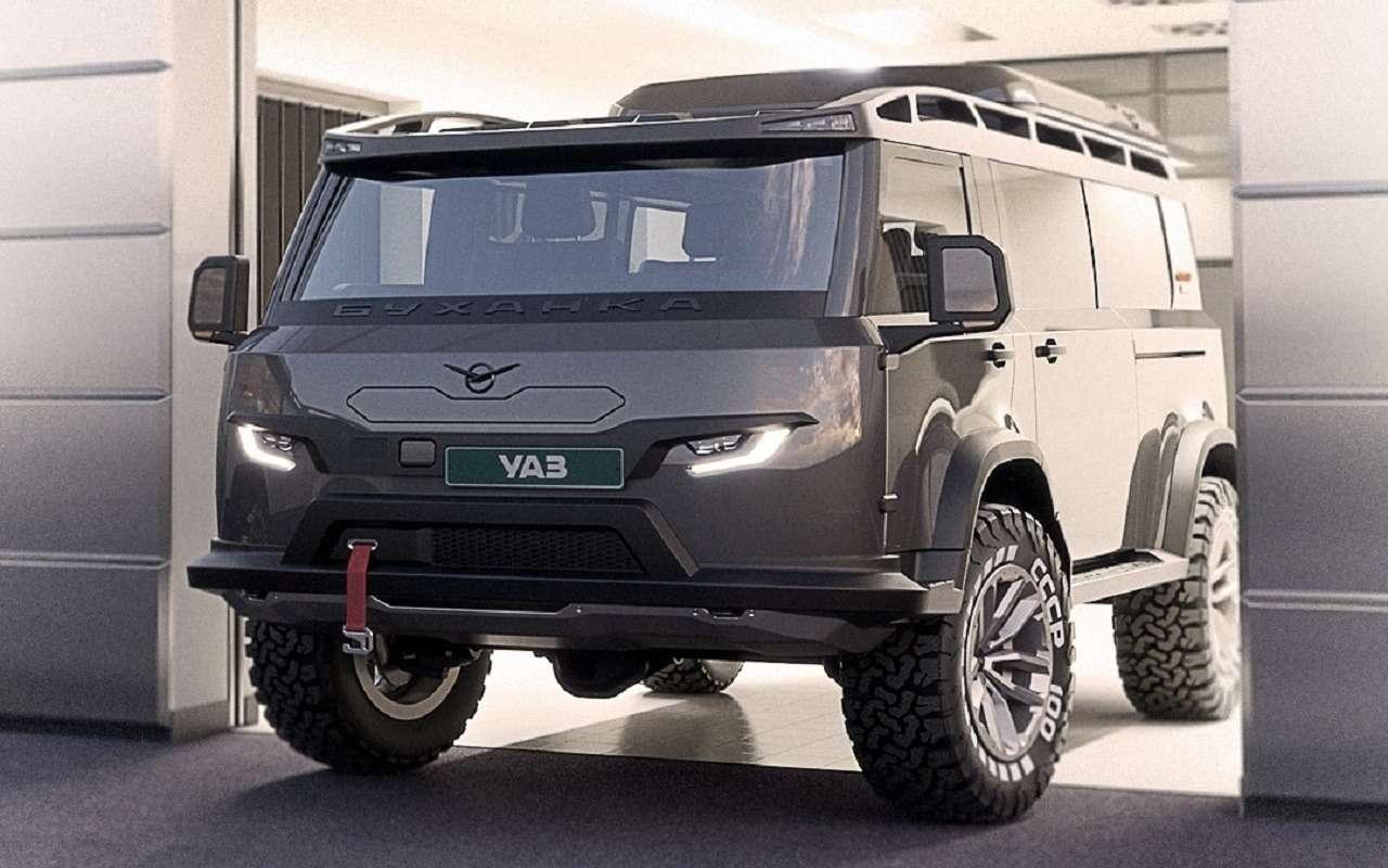 УАЗ показал «новую буханку» в пассажирском варианте