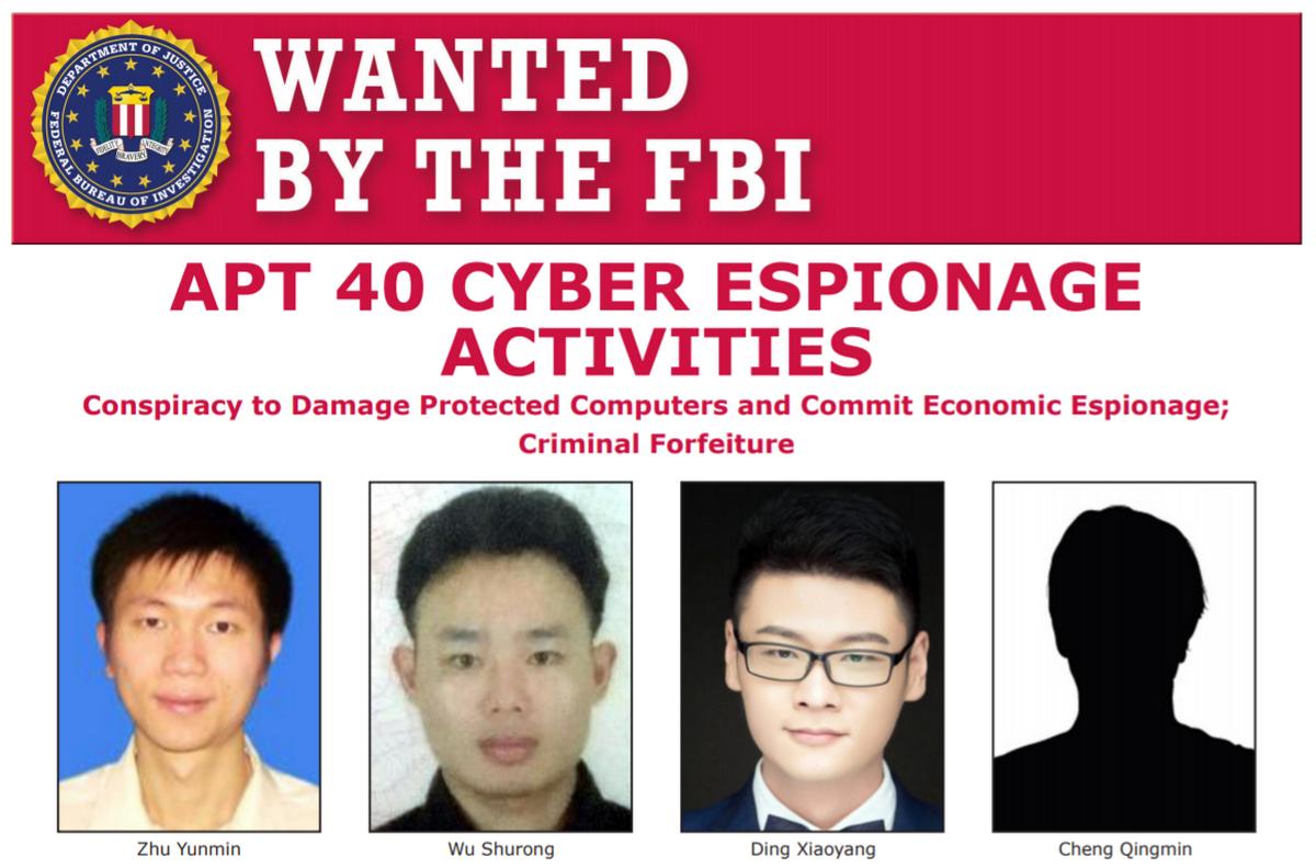 Власти США предъявили обвинения четырем участникам APT40