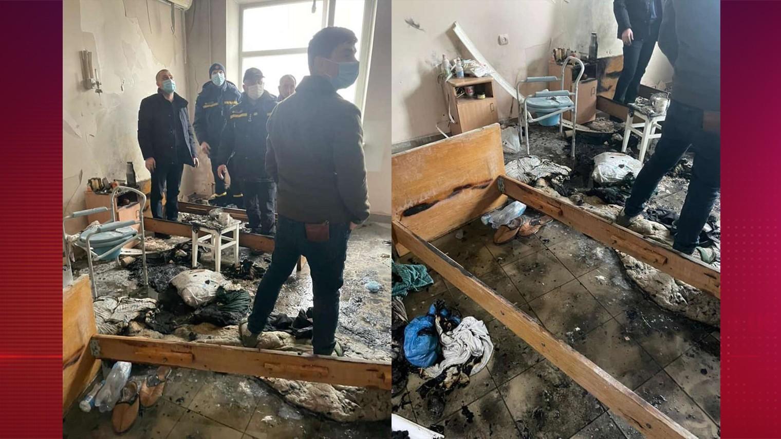 Фото из палаты украинской больницы, где прогремел взрыв