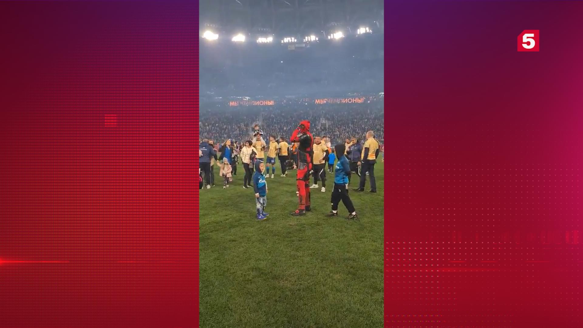 После триумфальной победы «Зенита» Дзюба вышел на поле в костюме Дэдпула